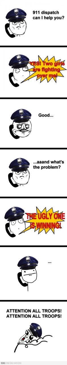 Comic Rage :) 911 Dispatch thats mean too