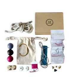 Gift Idea: For the Makers Subscription Box. Each box has materials for four to six fashion-forward (but beginner-friendly) projects. Step-by-step instructions and how-to photos are on their site.