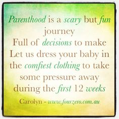 Parenthood and the first three months be kind to yourself - Carolyn www.fourzero.com.au