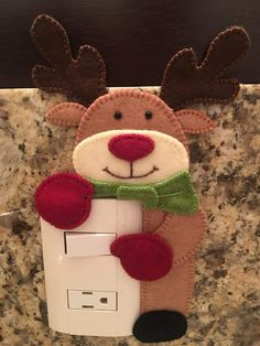 Reindeer, Snowman, Felt Ornaments, Christmas Ornaments, Christmas Decorations, Holiday Decor, Xmas Crafts, Happy Holidays, Hello Kitty