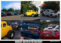 MSCC looks at the numbers game in the old car hobby--here's the link: http://mystarcollectorcar.com/whats-in-a-number-plenty-for-car-guys/