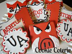 University of Arkansas Decorated Cookies SEC by CookieCoterie