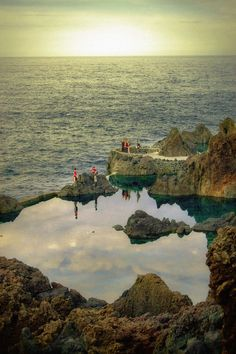 Rock Pools near Porto Moniz in Ilha da Madeira