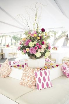 wedding lounge in marquee