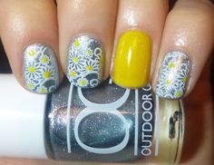 this could also work if all the nails were the same design and each had yellow tips