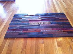 Leather Belt Floormat