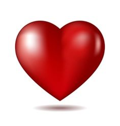 Red heart icon isolated on white vector