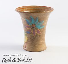Clarice Cliff Goldstone flared vase with floral design, c 1920s$800.