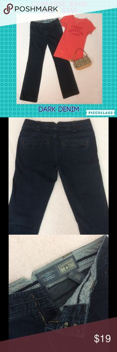 """Converse dark denim jeans 👖💙 Excellent condition. Converse one star jeans. Dark denim, high-quality, triple seam stitching. Zipper front with 2 clasp. Dark high-quality reinforced waistband for comfort. Flat back faux pockets for a more """"trouser style"""" look. Thick bottom leg hem to help keep shape. Straight leg. 32"""" inseam. Front pockets are functional. Shirt and purse are sold separately, check out my closet. Bundle & get a discount & combined shipping! Converse Jeans Straight Leg"""