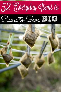 52 Everyday Items to Reuse to Save BIG - Your home is full of ways to save big bucks and you may not even know it! These 52 everyday items can all be reused to save you everyday! Are you reusing them or are literally throwing money away?