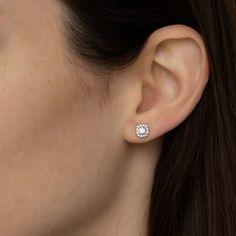 Diamond Earrings Stud Earrings Wedding Earrings Geometric | Etsy