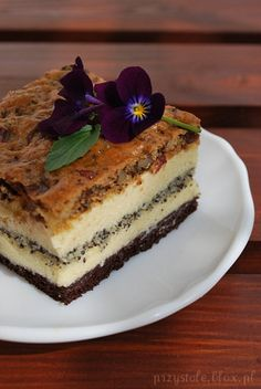 Pocałunek murzyna Polish Desserts, Polish Recipes, Sweet Recipes, Cake Recipes, Hungarian Cake, Cake Cookies, Yummy Cakes, Holiday Recipes, Sweet Tooth