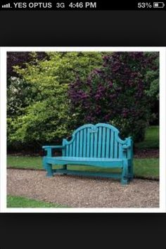 Colour I want to paint my garden bench Where The Heart Is, Outdoor Furniture, Outdoor Decor, Benches, Colours, Garden, Painting, Home Decor, Banks