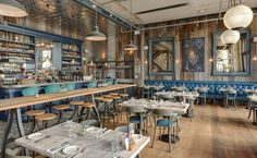 Gillespie Yunnie created a contemporary environment for restaurant Bistrot Pierre whilst still capturing traditional French culture and cuisine.