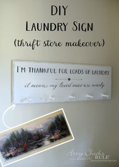 DIY Laundry Sign - t