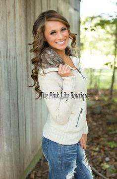 Fur Any Occasion Jacket Taupe!!