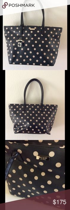 "Kate Spade Polka Dot Purse Never used, in excellent condition! 20""X11"", Black and white. kate spade Bags Shoulder Bags"