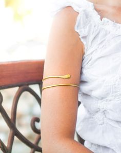 Gold Arm Cuff Upper Bracelet Br Armlet Gypsy Boho Style Jewelry Forearm Y Body Made To Order