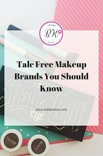 Talc Free Makeup Brands You Should Know