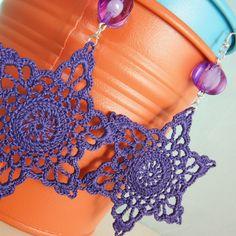 Purple Crochet Earrings. €12,00, via Etsy.