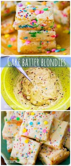 If you like the taste of cake batter, you will love these blondies. No mixer, 1 bowl, 30 minutes..