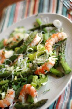 Salade de crevettes aux asperges, comme un air de printemps !
