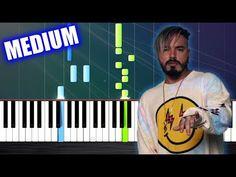 J. Balvin, Willy William - Mi Gente - Piano Tutorial (MEDIUM) by PlutaX