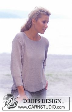 DROPS Pullover in Cotton Viscose Free pattern by DROPS Design.