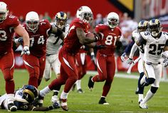 Wide receiver Early Doucet #80 of the Arizona Cardinals rushes the football against the St. Louis Rams during the NFL game at the Universtity of Phoenix Stadium on December 27, 2009.