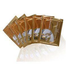1pair Gold Collagen Crystal Eye Mask Eyelid Patch Moisture Anti Wrinkle Remove Black Eye Makeup Women