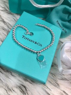 Pandora Jewelry OFF!> Blue Heart Sterling Silver Brand New Never Worn. Tiffany E Co, Tiffany And Co Jewelry, Tiffany And Co Necklace, Tiffany Blue, Tiffany Bead Bracelet, Tiffany Bracelets, Pearl Bracelet, Fashion Bracelets, Jewelry Bracelets