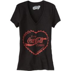 Old Navy Womens Coca Cola V Neck Tees ($13) ❤ liked on Polyvore