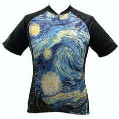 Art Jersey Van Gogh Starry Night Mens Cycling