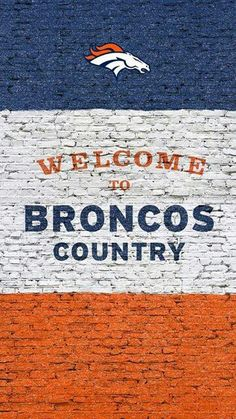 Being from Broncos country means dedication. Stay connected to your team all week with NFL Mobile from Verizon and rid yourself of the fear of missing out on football. Denver Broncos Logo, Denver Broncos Wallpaper, Broncos Gear, Denver Broncos Football, Go Broncos, Broncos Fans, Football Baby, Football Wallpaper, Football Season
