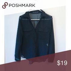 Zara shirt size: xs Good condition, sheer see through, size: xs Zara Tops Blouses