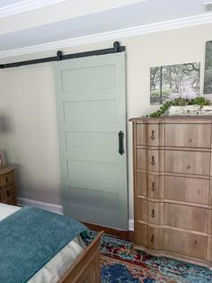 Adding a Sliding Barn Door to our Master Bath - Southern Hospitality Bathroom Doors, Master Bathroom, Bathrooms, Making Barn Doors, Bath Window, Kohler Toilet, Bamboo Blinds, Traditional Doors, Painting Trim