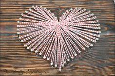 Creative: Eleven Amazing String Art DIYs  (via Domestically Speaking: Cute Valentine's Art with Baker's Twine)