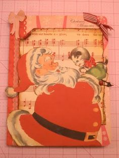 altered composition book for Christmas!
