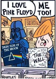 94ba970c Donald Trump and Darth Vader Star Wars x United States of America. Eddy  Cannon · PINK FLOYD