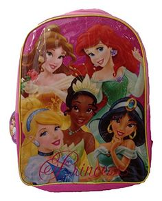 DISNEY PRINCESS BACKPACK  - Click image twice for more info - See a larger selection of Barbie at http://kidsbackpackstore.com/product-category/barbie-bag/ - kids, bag, kids bag , character bags, barbie, girls, pink , gift ideas