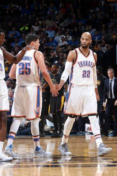 New Thunder players, McDermott and Gibson.