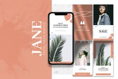 Jane is a collection of 40 social media design templates for Instagram, Facebook & Blogs.  The templates come in two sizes, 20 templates in 2000x2000px for all square type posts in addition to the 20 standard 1080x1920px Instagram Stories templates.  These templates enable you to present your stories in a more interesting and engaging fashion. The elegant design gives your brand a more professional and sophisticated vibe. Perfect for promotional and marketing posts. Social Media Template, Social Media Design, Ios, Youtube Channel Art, Game Interface, Android, Game Assets, Instagram Story Template, Photo Effects