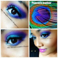Inglot Palette: Peacock colors