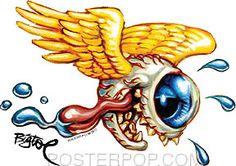Rat Fink, Cartoon Rat, Cartoon Drawings, Desenho New School, Hot Rod Tattoo, Arte Lowbrow, Pinstripe Art, Garage Art, Arte Horror