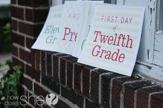 FREE Exclusive 1st Day of School Printables from howdoesshe.com. Don't miss out!