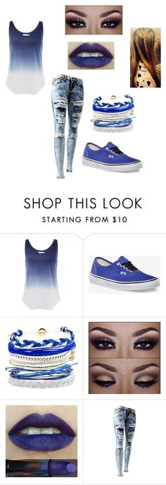 """""""Untitled #29"""" by ajdaremih ❤ liked on Polyvore featuring Velvet by Graham & Spencer, Vans and Domo Beads"""
