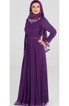 Tanah Formal Long Dress with FREE Wrap - Islamic Formal Dresses - Islamic clothing at Artizara.com