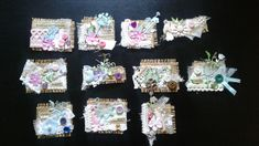 Embellishments for junk journals - snippets
