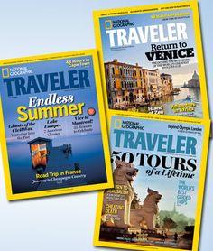 Subscription to Nat Geo Traveler!