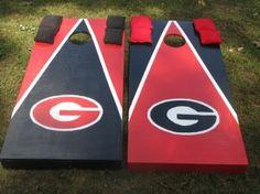 Make your own.georgia Cornhole boards instead of Alburn